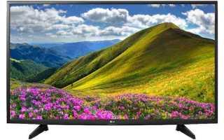 Обзор телевизора lg 43lj510v