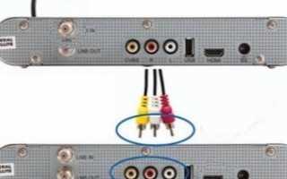 Как подключить ресивер к телевизору?